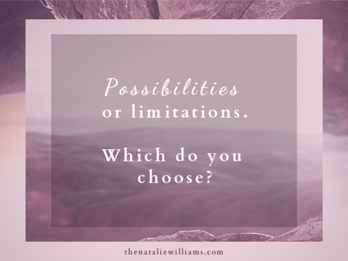 Possibilities or Limitations